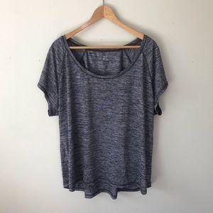 Zella Space Gray Short Sleeve Active T Shirt Top